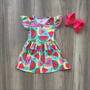 Baby Girl Dress *NEW* Watermelon with Bow